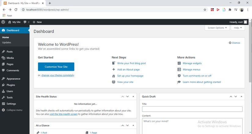Tự học Wordpress - bài 1: Cài đặt Wordpress và cấu hình Localhost 10