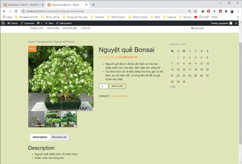 Tự học Wordpress - bài 2: Tạo 1 trang web bán hàng đơn giản với plugin WooCommerce (phần 1) 8