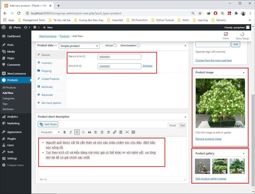 Tự học Wordpress - bài 2: Tạo 1 trang web bán hàng đơn giản với plugin WooCommerce (phần 1) 6