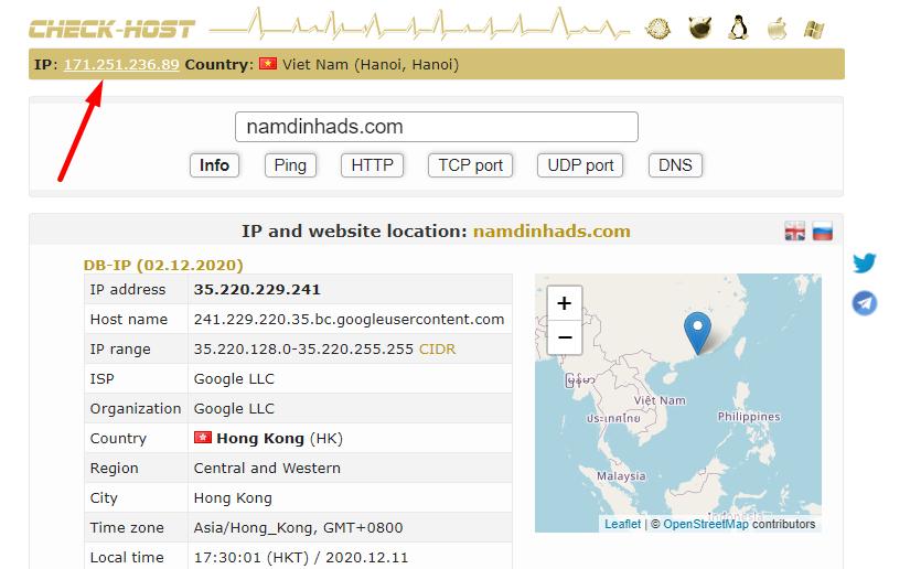 Cách xem địa chỉ IP internet của bạn